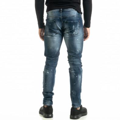 Slim fit Destroyed мъжки сини дънки it020920-16 3