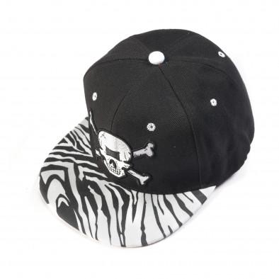 Черна шапка с череп it050618-73 2