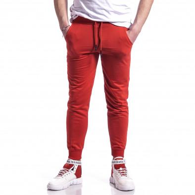 Basic памучно мъжко долнище в червено it270221-18 2