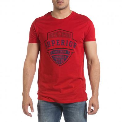 Мъжка червена тениска Superior it040621-13 3