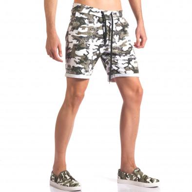 Мъжки камуфлажни шорти с избелял ефект it250416-7 4