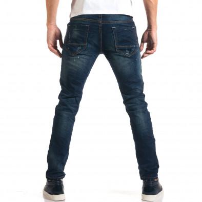 Мъжки дънки с черни и бели пръски боя it160916-17 3