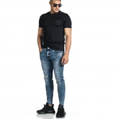 Мъжки дънки с еластични прокъсвания Capri fit it150521-39 4