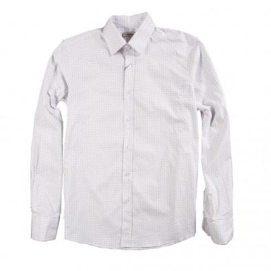 Мъжка риза дискретно щампована 080213-5 2