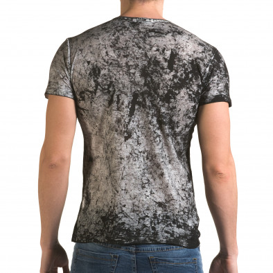 Мъжка сива тениска с 2 юмрука отпред il120216-10 3