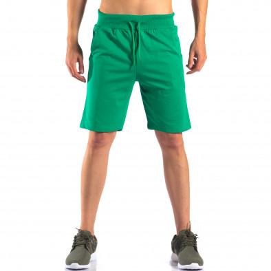 Зелени мъжки шорти за спорт изчистен модел it160616-5 2