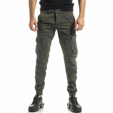 Зелен мъжки панталон Cargo Jogger tr161220-19 2