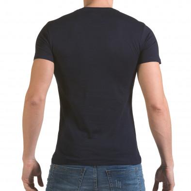 Мъжка синя тениска с фигуралнен принт il170216-55 3