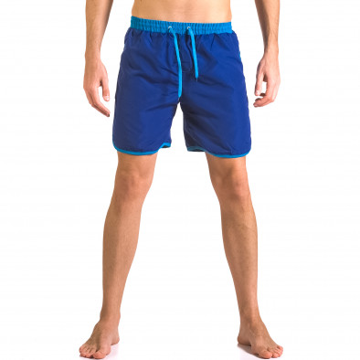 Мъжки сини бански тип шорти с удобни джобове ca050416-32 2