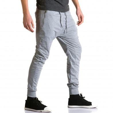 Мъжки светло сиви потури с ципове на предните джобове ca270115-1 4