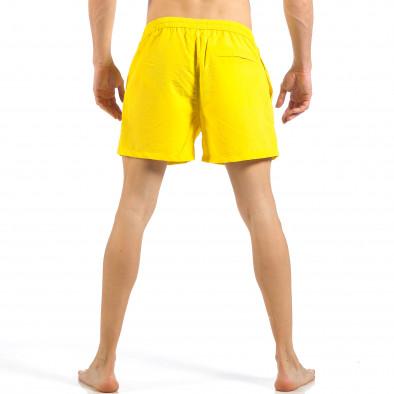 Мъжки жълт бански с цип и копче it260318-203 4