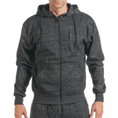 Мъжки тъмно сив спортен комплект с ципове it160916-61 4