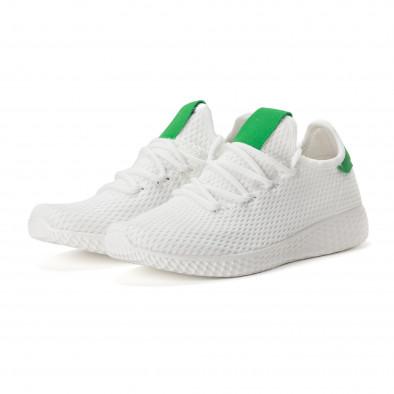 Мъжки зелено-бели леки маратонки it020618-4 3