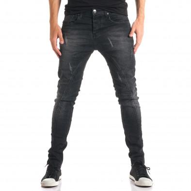 Мъжки тъмно сиви дънки с допълнителни шевове tsf210916-11 2