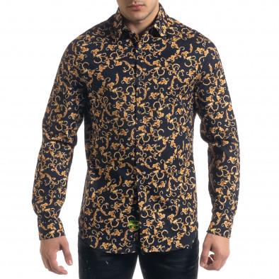 Slim fit мъжка риза флорален десен tr110320-96 2