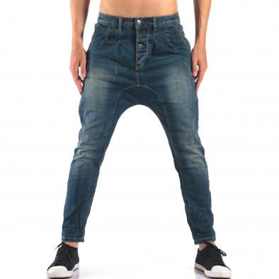 Мъжки дънки със смъкнато дъно тип потури it160616-33 2