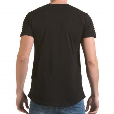 Мъжка черна тениска с надпис Life is a Laugh il170216-70 3