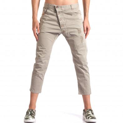 Зелен мъжки панталон 7/8 тип потури it250416-29 2