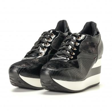 Дамски черни маратонки на платформи it200917-29 3