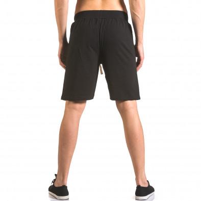 Мъжки черни шорти за фитнес с надпис Book Makers ca050416-41 3