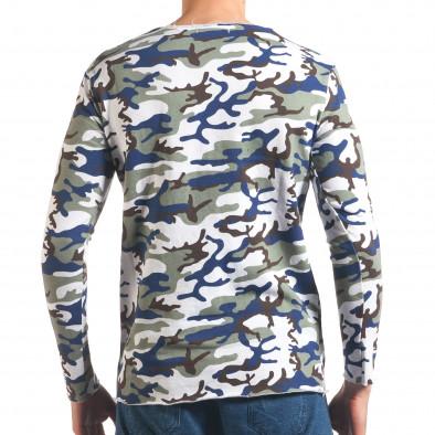 Мъжка блуза бяло-зелен камуфлаж it250416-72 3