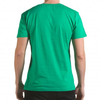 Мъжка зелена тениска с релефен надпис Franklin 99 il170216-1 3