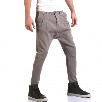 Мъжки сиви дънки с кройка на потури it090216-20 4