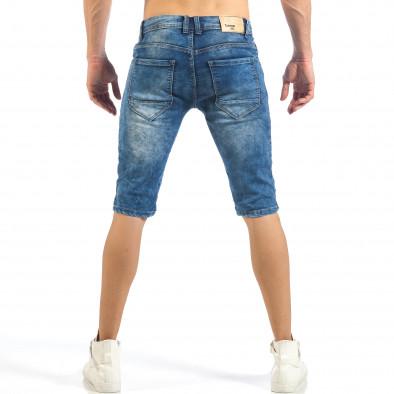 Мъжки къси Biker дънки в синьо it260318-114 3