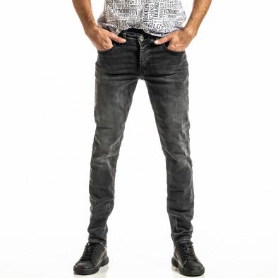 Long Slim черни дънки с избелял ефект tr300920-2 2
