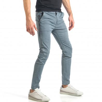 Мъжки син панталон с малки детайли по плата it290118-37 4