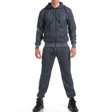 Мъжки син спортен комплект с ципове it160916-59 2
