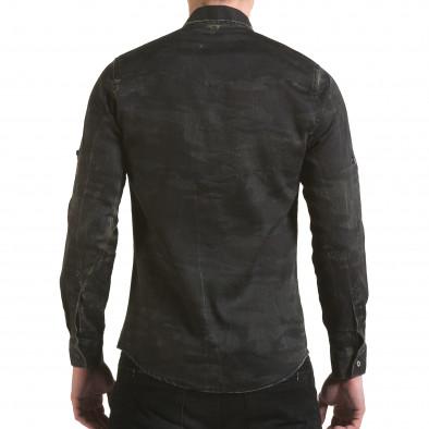 Мъжка риза тъмно сив камуфлаж Buqra 5