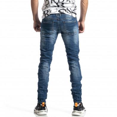 Мъжки сини намачкани дънки it010221-42 3