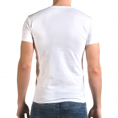 Мъжка бяла тениска с принт птица il120216-52 3