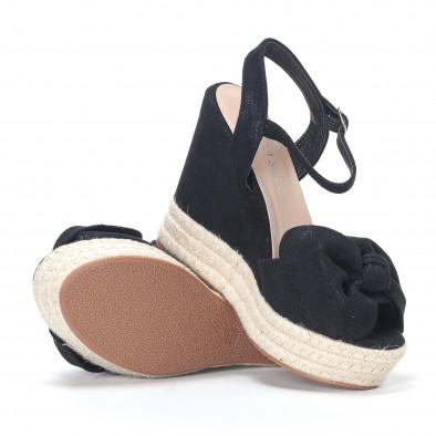 Дамски черни сандали на платформа it230418-40 4