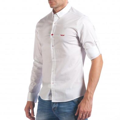 Мъжка бяла риза класически модел il060616-113 4