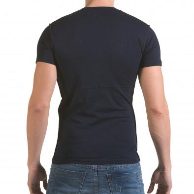 Мъжка синя тениска с 2 кръстосани ципа il170216-58 3