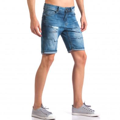 Светло сини къси дънкови панталони със скъсвания Jack Berry 5