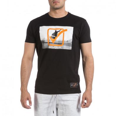 Мъжка черна тениска Givova it040621-19 2