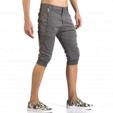 Мъжки сиви къси панталони тип потури it110316-51 4