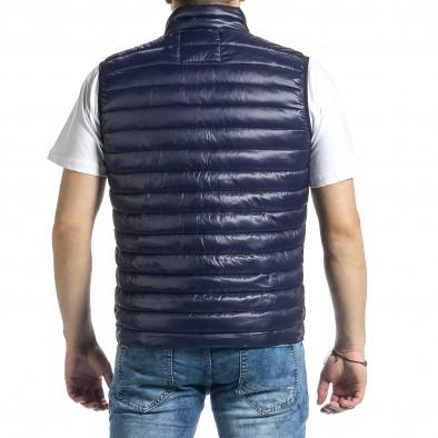 Капитониран мъжки син елек с лого it270221-58 3