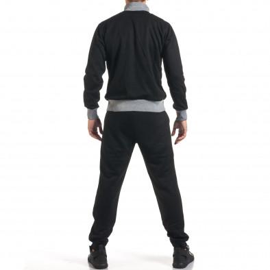 Мъжки черен спортен комплект с декоративен цип it160916-77 3
