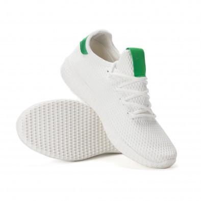 Мъжки зелено-бели леки маратонки it020618-4 4