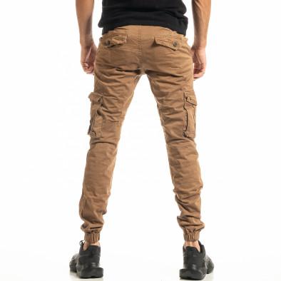 Мъжки камел карго панталон с ластик на крачолите tr300920-5 3