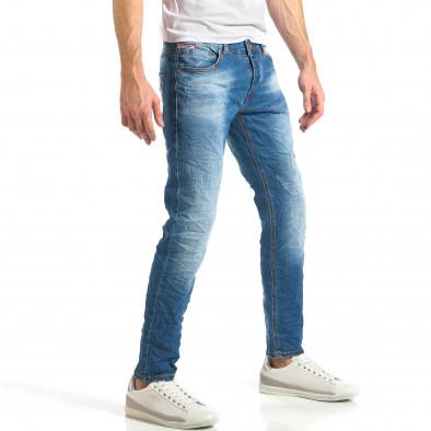 Мъжки дънки изчистен модел с леко избелял ефект it290118-6 4
