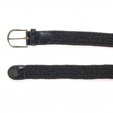 Мъжки черен плетен колан it250915-11 2