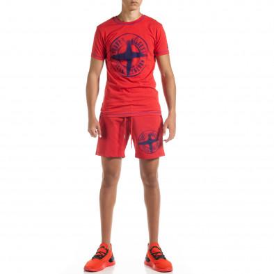 Червен мъжки спортен комплект Compass tr010720-4 2