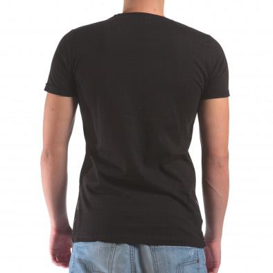 Мъжка черна тениска с череп с мрежеста материя il210616-4 3