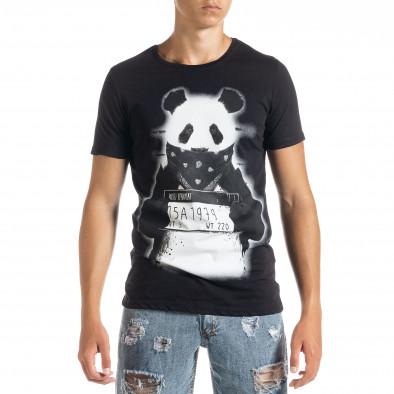Мъжка тениска Panda Criminal в черно tr010720-23 2