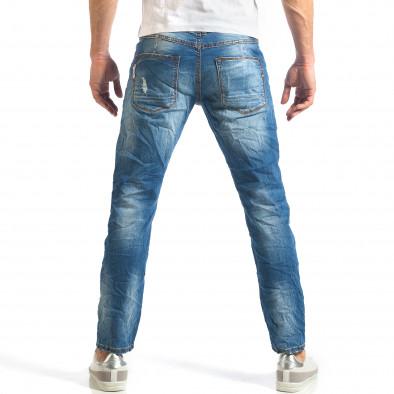 Мъжки дънки изчистен модел с леко избелял ефект it290118-6 3